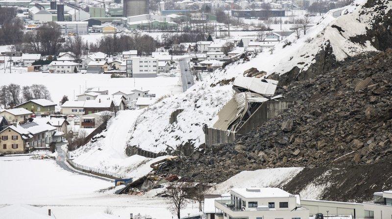 Un éboulement s'est produit dans une carrière à Rarogne, dans le Haut-Valais.