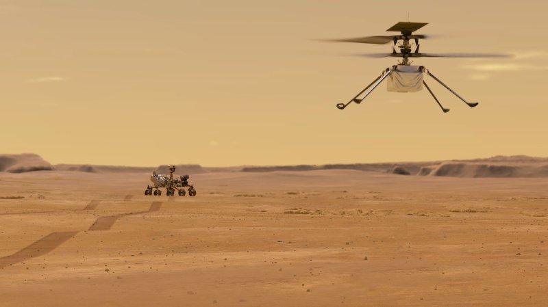 Espace: la NASA veut faire voler un hélicoptère pour la première fois sur Mars