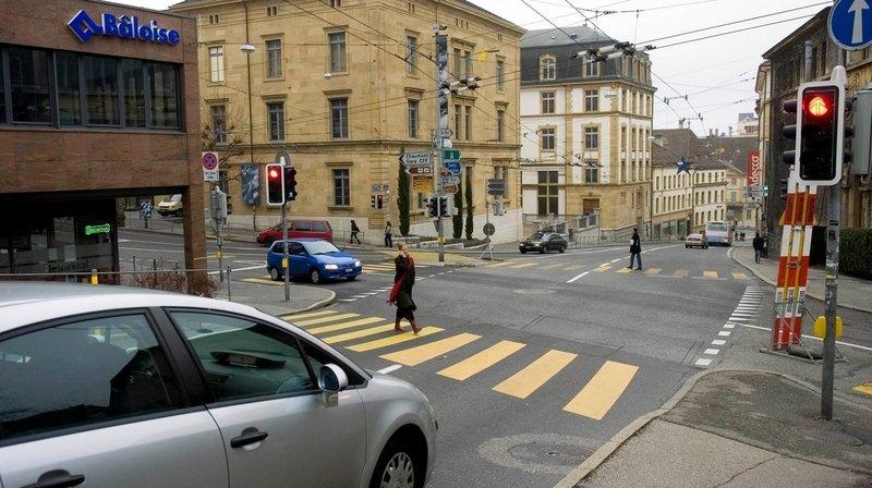 Neuchâtel: un piéton renversé à la rue des Bercles