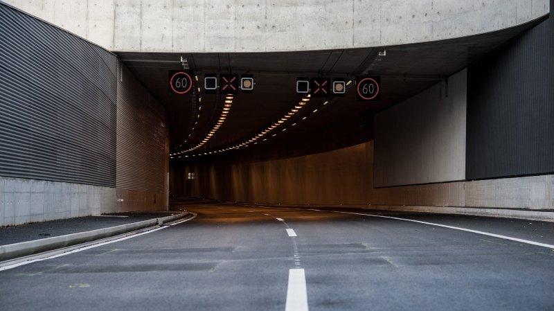 Serrières: perte de maîtrise à la sortie du tunnel