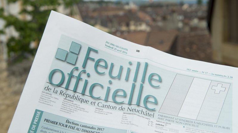 Grand Conseil: pour une information officielle accessible à tous les Neuchâtelois