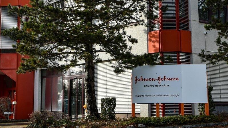 L'usine de Johnson & Johnson à Puits-Godet, sur les hauts de Neuchâtel.