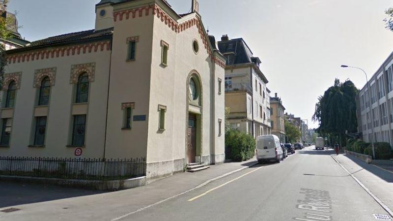 La synagogue de Bienne, profanée ce jeudi.