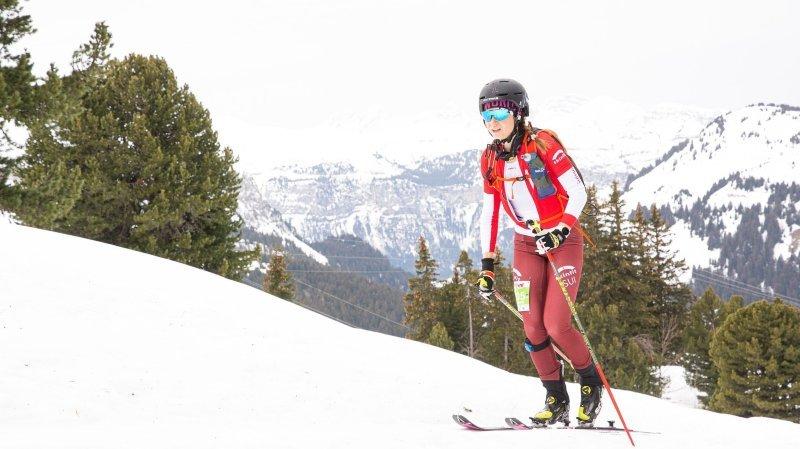 Marianne Fatton a pris la deuxième place en sprint.