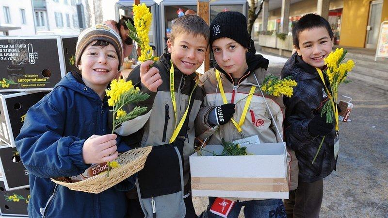 Le Locle: du mimosa pour les enfants défavorisés