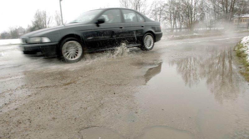 Pluies: route coupée à La Chaux-de-Fonds