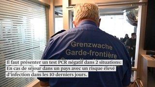 Coronavirus: nouvelles mesures pour passer la frontière suisse