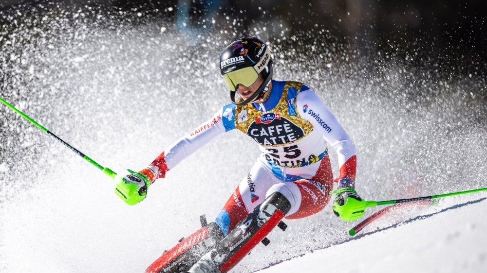 Camille Rast a prouvé qu'elle tenait la grande forme en slalom.