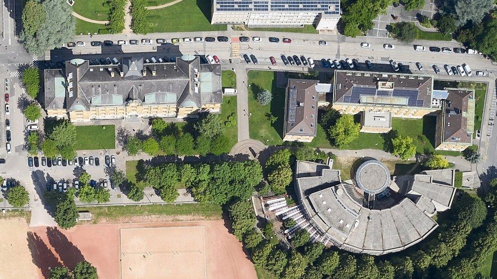 Le Lycée Jean-Piaget sera concentré désormais sur ses bâtiments des Beaux-Arts (en haut à gauche) et de Léopold-Robert (en bas à droite).