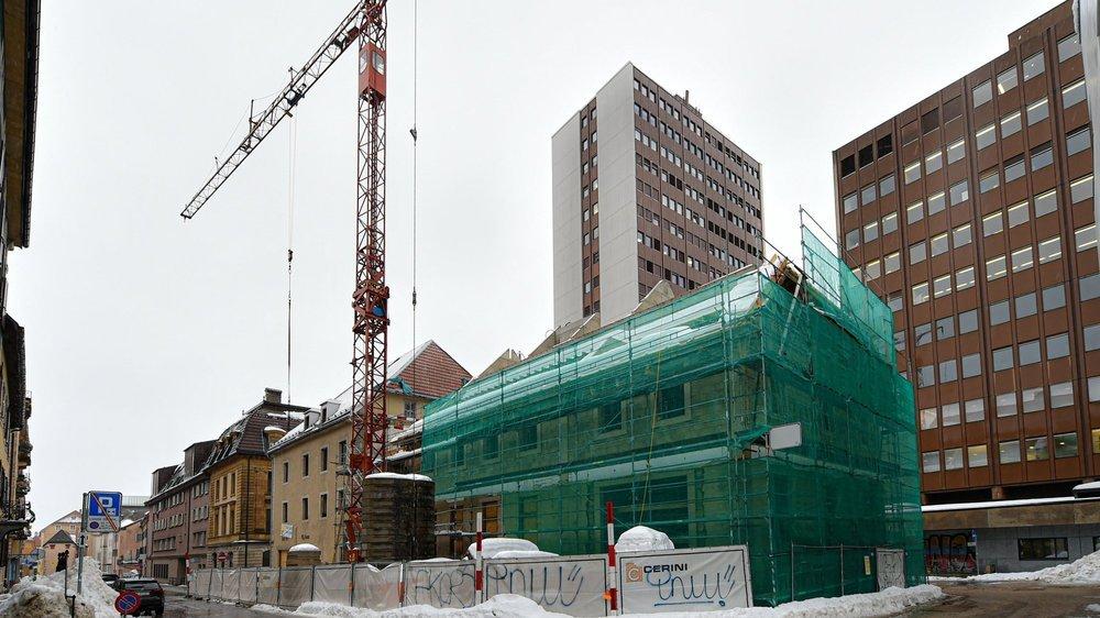 Le bâtiment de l'ancienne quincaillerie Kaufmann, à La Chaux-de-Fonds, devrait accueillir une résidence pour personnes défavorisées.