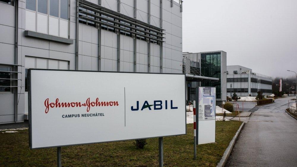 Le campus Johnson & Johnson au Locle, en février 2021.