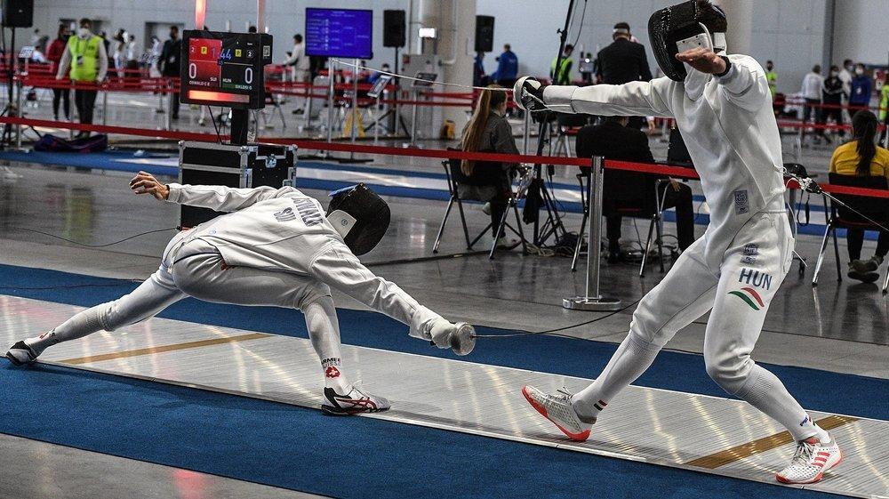 A Kazan, Charles-Eric Oswald (à gauche) s'est frotté au numéro un mondial, le Hongrois Gergely Siklosi.