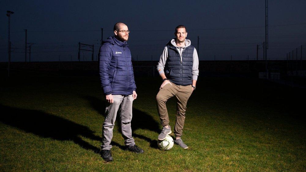 Michaël Oberhänsli (à droite) et Sébastien Egger veulent relancer leur club sur des bases différentes.