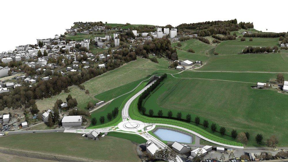 L'aménagement des Petites-Crosettes, à La Chaux-de-Fonds, en cas de réalisation du tunnel.