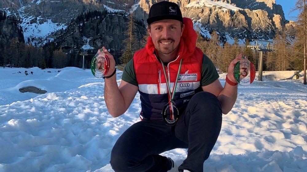 En Italie, Pierre Stiembsert a décroché trois médailles en trois courses.