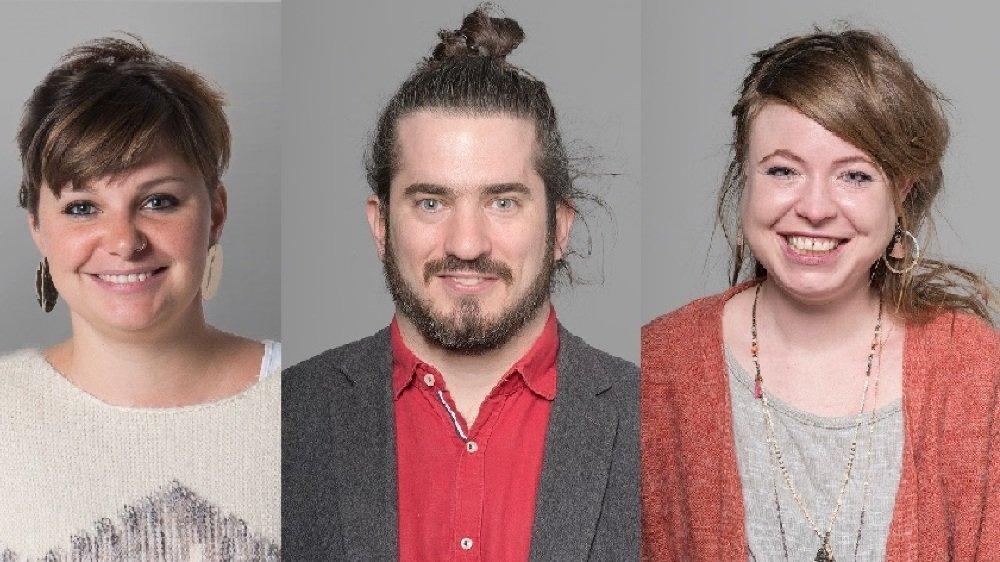 Zoé Bachmann, Dimitri Paratte et Solenn Ochsner représenteront Solidarités pour l'élection au Conseil d'Etat.