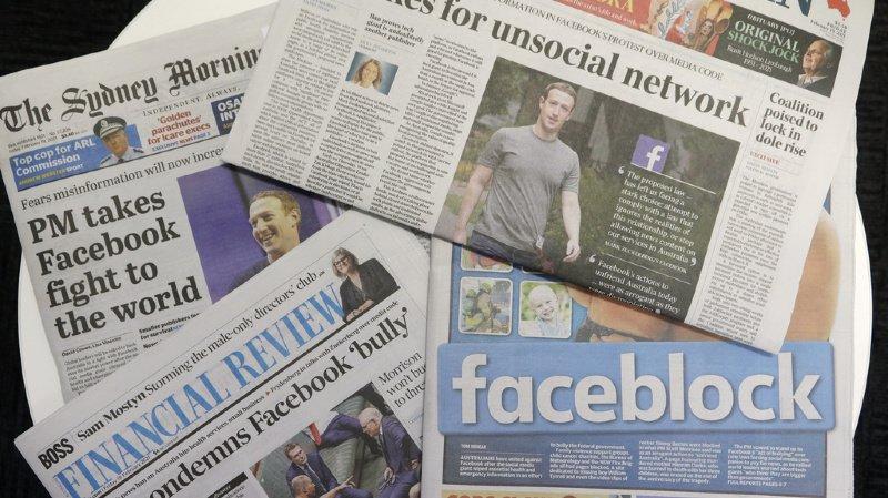 Australie: le pays et Facebook en discussion après le blocage des contenus