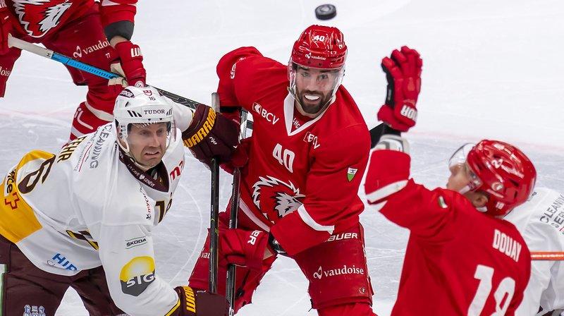 Genève-Servette a remporté après prolongation le derby du Léman sur la glace de Lausanne.