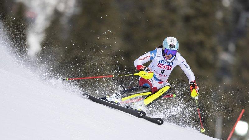 Ski alpin: Wendy Holdener termine au pied du podium du slalom d'Are, Michelle Gisin 7e