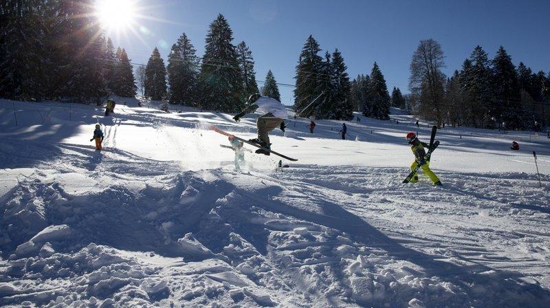 La station de ski des Bugnenets-Savagnières, ici en janvier, a pu rouvrir ce mercredi.