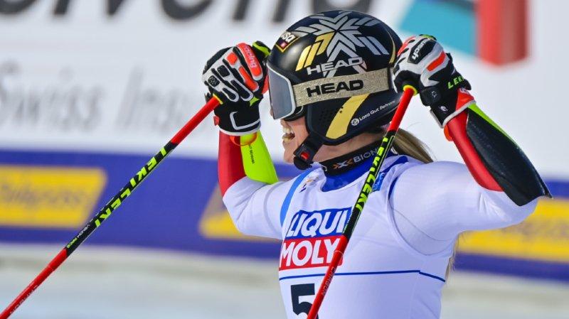 Ski alpin: Lara Gut-Behrami rapide mais a manqué une porte à Val di Fassa