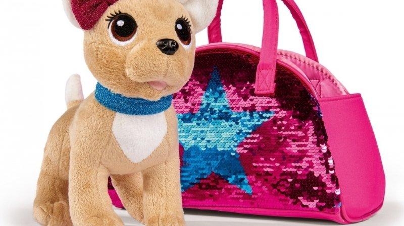 Müller rappelle un sac avec un chien en peluche pour enfants