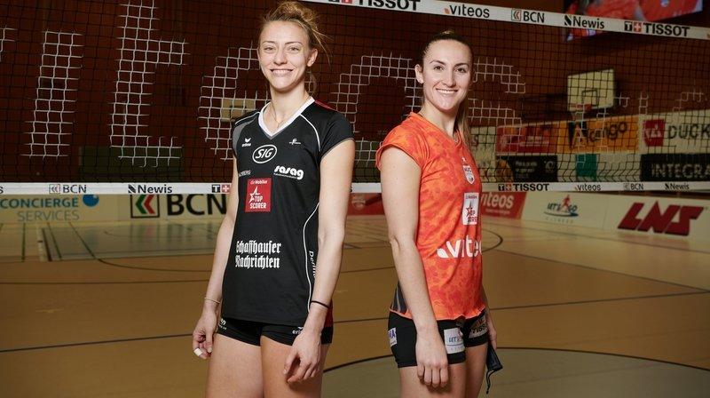 Volleyball: les deux cousines top-scoreuses Tia Scambray et Taylor Fricano s'éclatent en Suisse