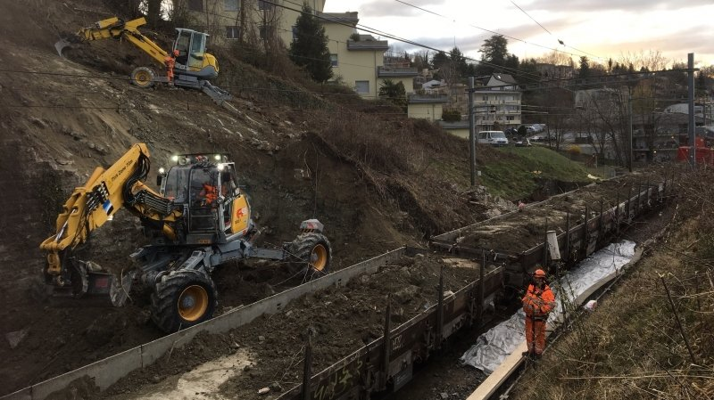 La ligne CFF Lausanne-Fribourg reste interrompue jusqu'à lundi