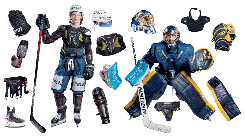 Hockey: tout savoir sur l'équipement des joueurs et gardiens du HCC