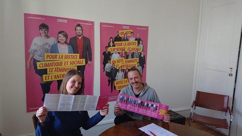 Cantonales neuchâteloises 2021: Solidarités vise au moins trois sièges au Grand Conseil