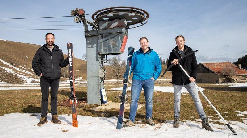 Val-de-Ruz: trois amis décidés à faire revivre le téléski du Crêt-Meuron