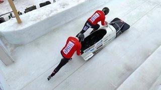 Bob à deux: Yann Moulinier accroche un top 7 aux championnats de Suisse