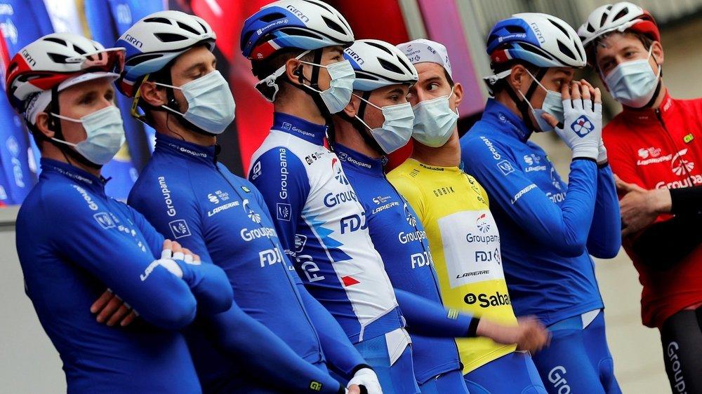 Alexandre Balmer (troisième depuis la gauche) a participé au succès de son équipe lors du Tour de la Communauté de Valence.