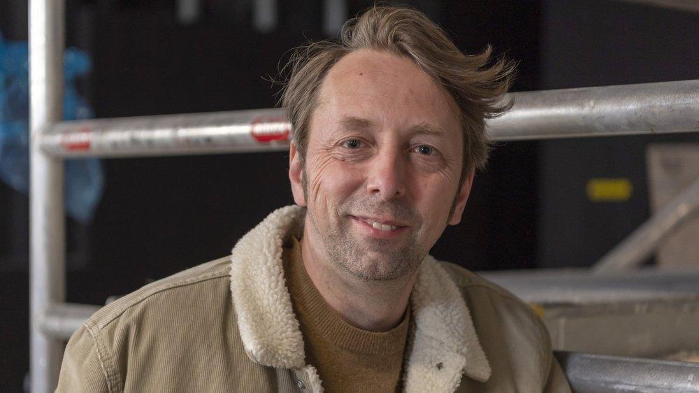 Robert Sandoz est le directeur du Théâtre du Jura, qui devrait accueillir ses premières représentations en automne 2021.