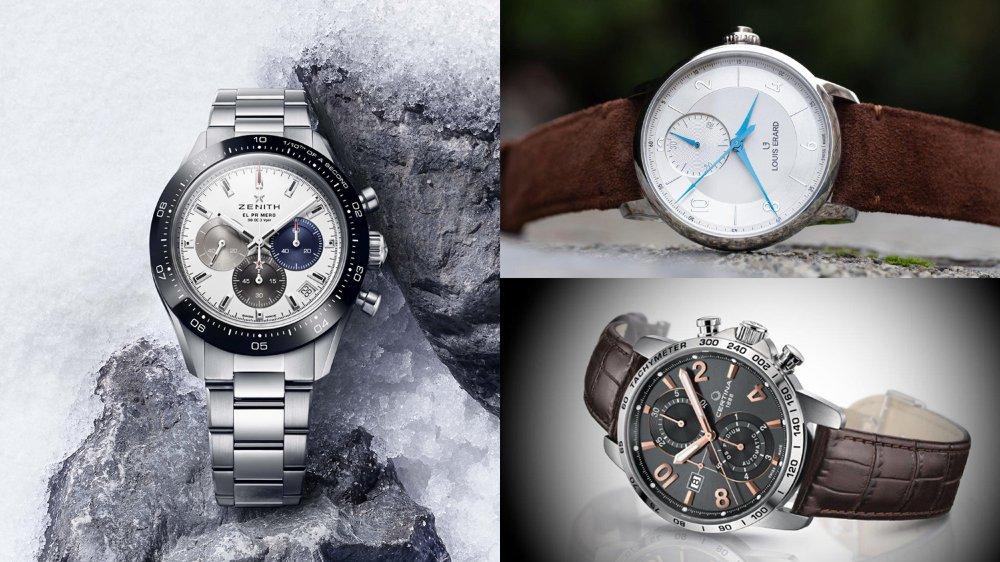 Zenith Chronomaster Sport, Louis Erard Excellence chronographe monopoussoir et Certina DS Podium, les trois chronographes que la rédaction d'ArcInfo a repéré dans les sorties récentes.