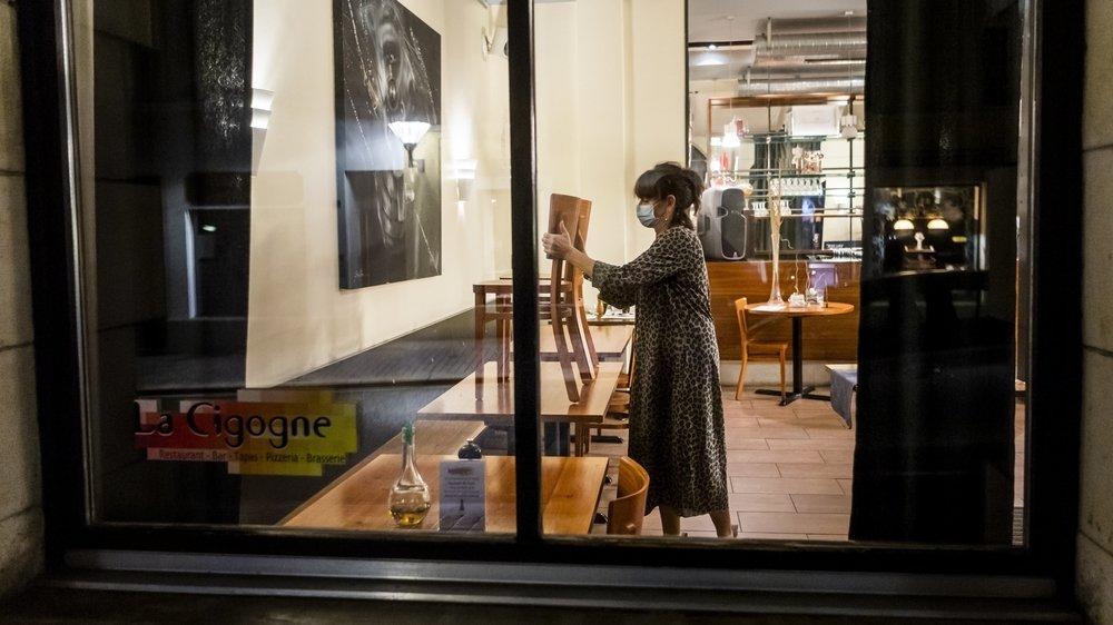 La fermeture des restaurants (ici la Cigogne à Delémont) a été l'une des mesures les plus marquantes de la pandémie selon les Jurassiens.