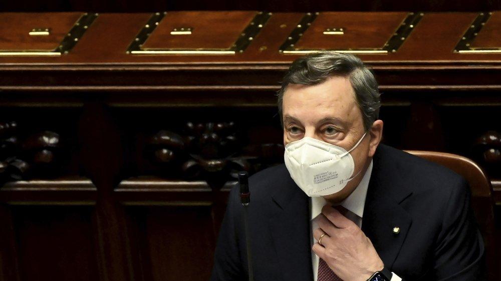 Mario Draghi, le président du Conseil italien a présenté, lundi, aux députés le méga plan de relance de 248 milliards d'euros, dont 192 milliards de fonds européens.