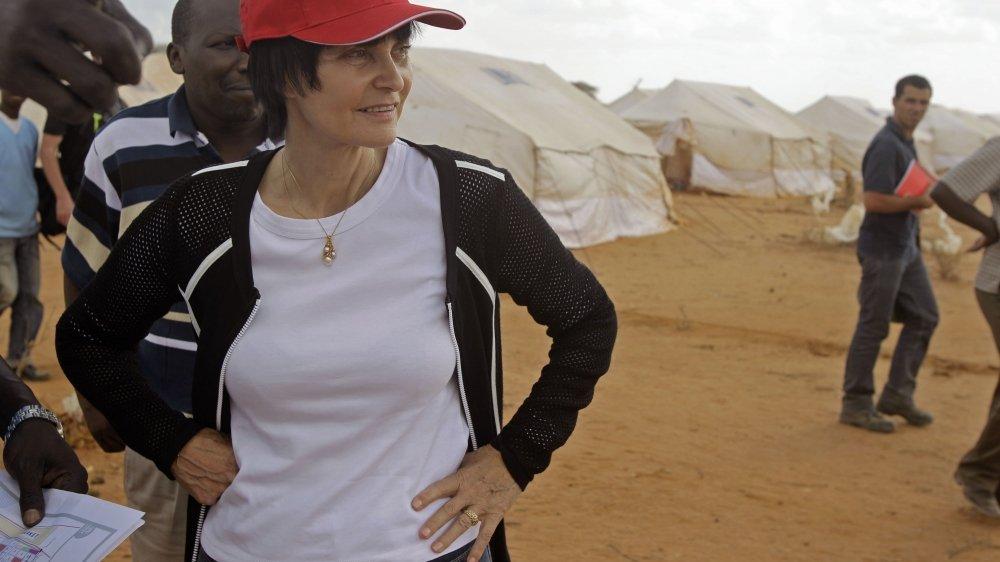 L'ancienne conseillère fédérale, ici en 2011 lors de la visite d'un camp de réfugié au Kenya.