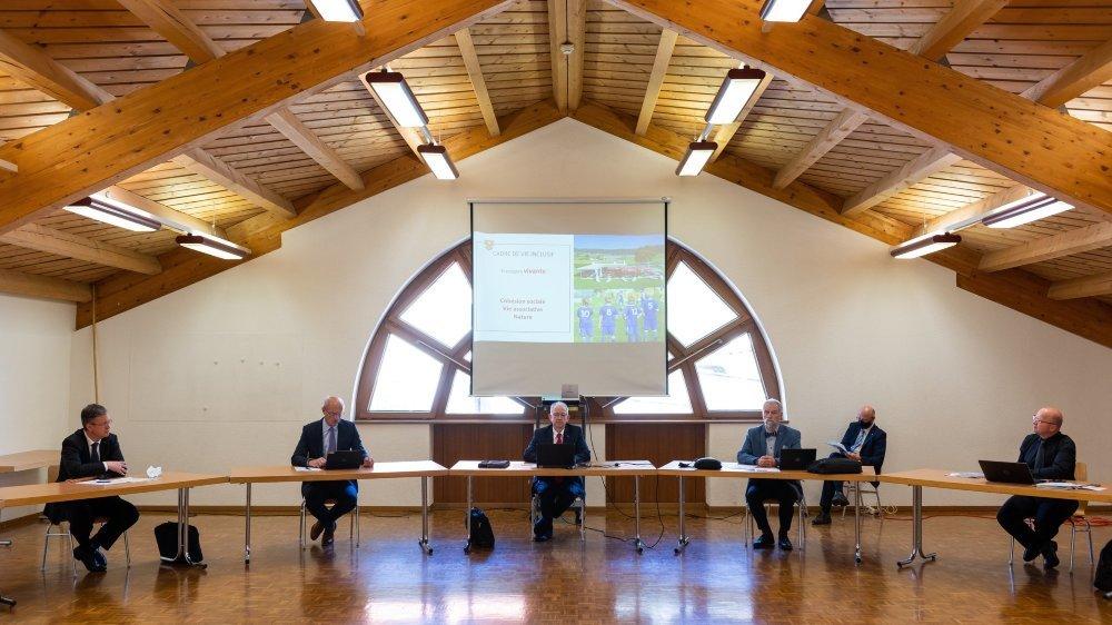L'exécutif vaudruzien était présent in corpore pour présenter son programme.
