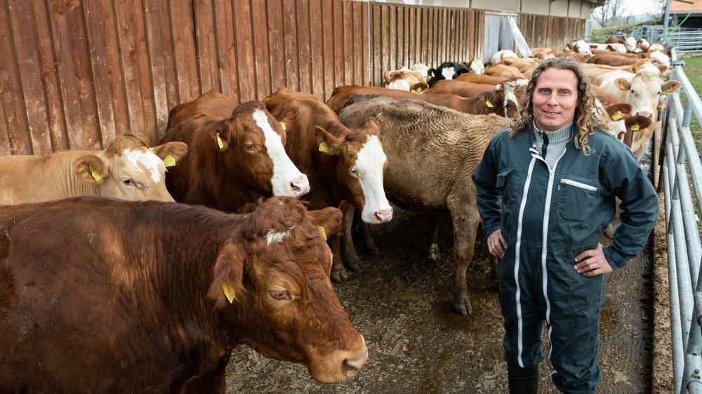 Comme 43 autres agriculteurs locaux, Christophe Ummel est sociétaire du projet de centrale de biogaz à La Chaux-de-Fonds.