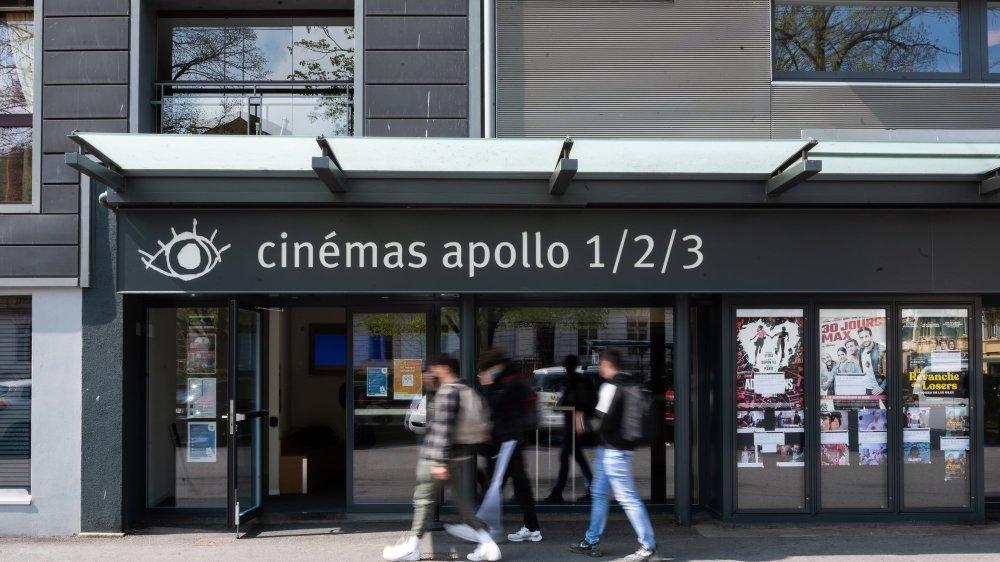 L'Apollo, à Neuchâtel, fait partie des cinémas qui ont rouvert ce mercredi, avec le Scala et l'ABC à La Chaux-de-Fonds.