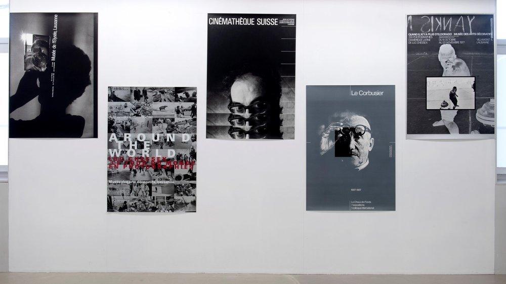 """L'affiche de Godard (au milieu) est au Museum of Modern Art (MOMA) de New York: """"Elle fait partie de la collection d'Estée Lauder déposée là-bas"""", raconte Werner Jeker."""