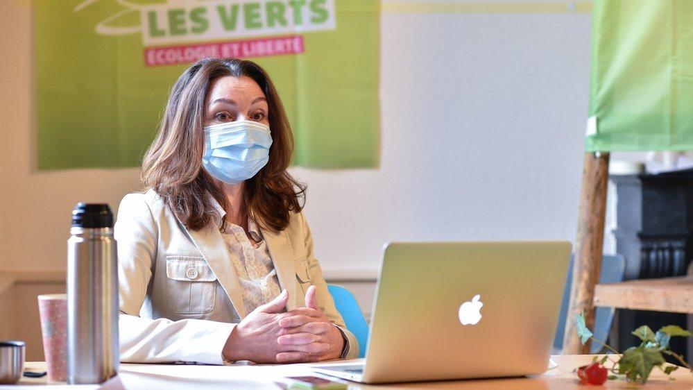 La présidente des Verts Christine Ammann Tschopp se réjouit de la progression de son parti au Grand Conseil.