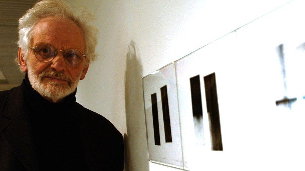 André Evrard en 2005 lors d'une exposition au Musée des beaux-arts du Locle.