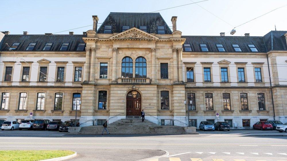 Le bâtiment central de l'Université de Neuchâtel.