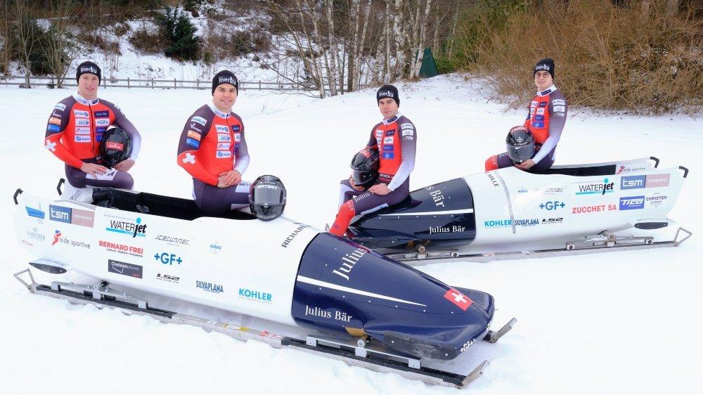 Quentin Juillard, Yann Moulinier, Mathieu Hersperger et Julien Mathys (de g. à d.) ont bien progressé cette saison.