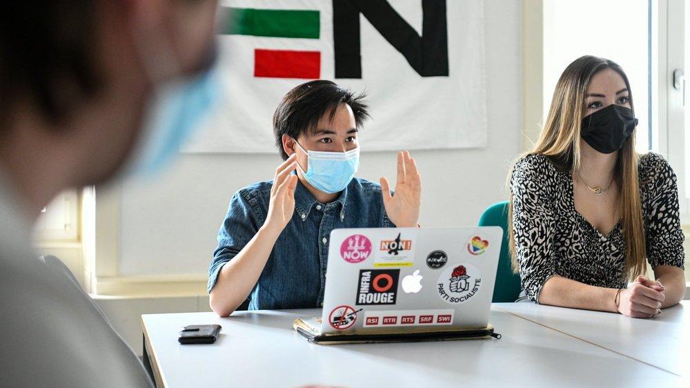 Hugo Clémence et Maeva Ciarleglio, membres du comité de la Fédération des étudiants neuchâtelois.