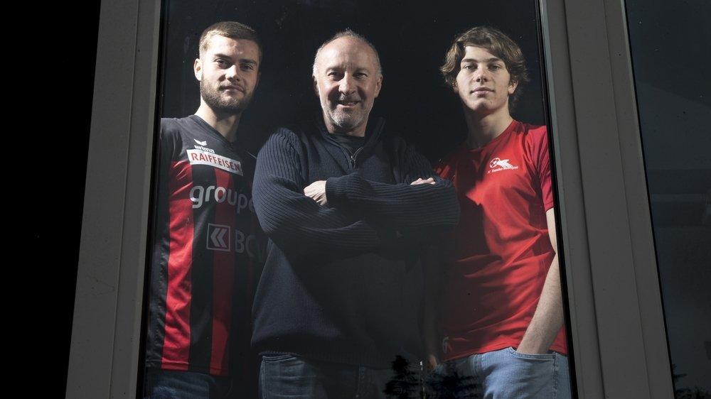 Jacky Epitaux forme un sacré trio avec ses fils Yoan (à gauche) et Nathan.