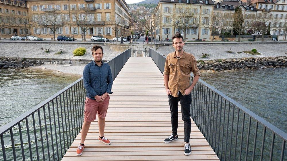 Benjamin Bonnal et Georges-Henri Gaillard (de g. à d.) participent à l'aventure SP80.