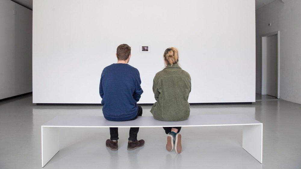 Seuls des petits iPads jalonnent le parcours du Musée des beaux-arts du Locle.